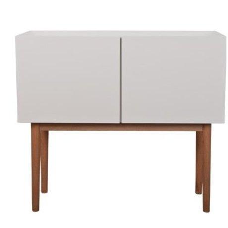 Zuiver Aparador ALTO EN MADERA 2DO MDF / Roble, blanco marrón / natural, 90x40x80cm