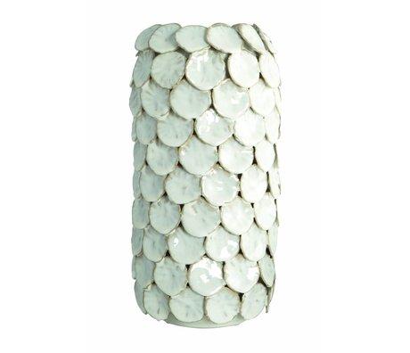 "Housedoctor Vase ""Dot"", blanc, Ø15x30cm"
