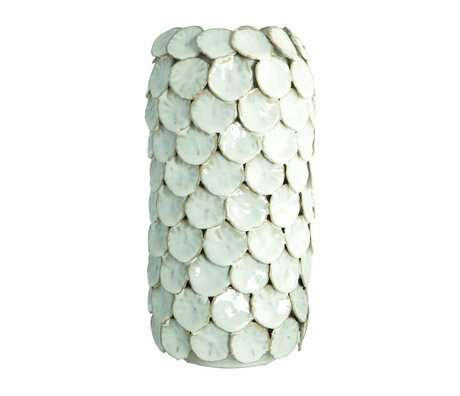 Housedoctor Vase 'Dot, hvid, Ø15x30cm