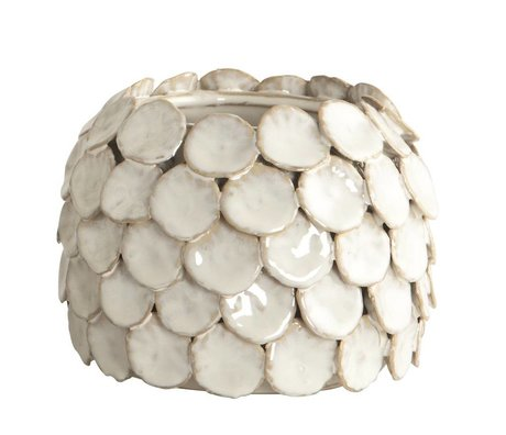 Housedoctor Vase 'Dot, hvid, Ø15x10cm
