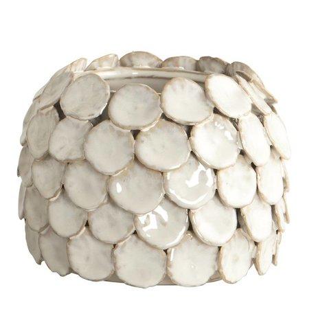 Housedoctor Vase 'Dot', weiß, Ø15x10cm