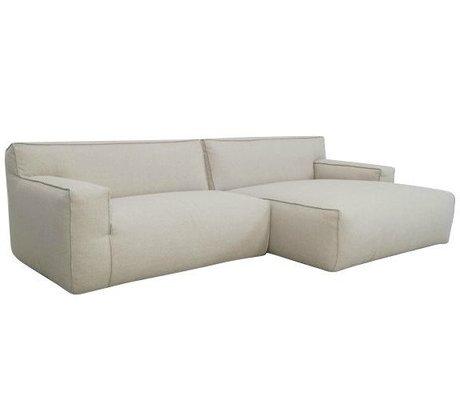 FEST Amsterdam Couch `Clay ', Sydney22 beige, 1,5-personers / Longchair til venstre eller højre