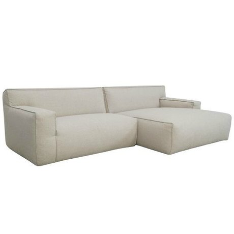 FÉST Couch `Clay ', Sydney22 beige, 1,5-personers / Longchair til venstre eller højre