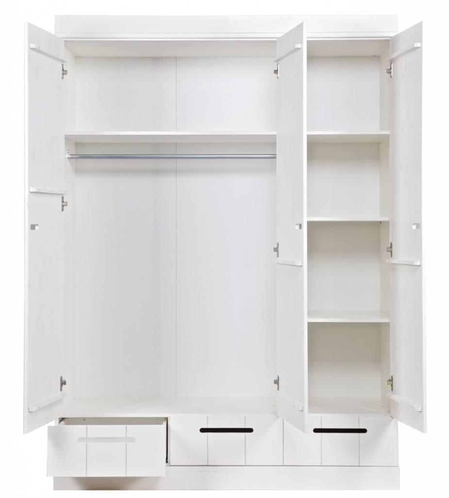 lef collections kleiderschrank 39 connect 39 mit 3 t ren und. Black Bedroom Furniture Sets. Home Design Ideas