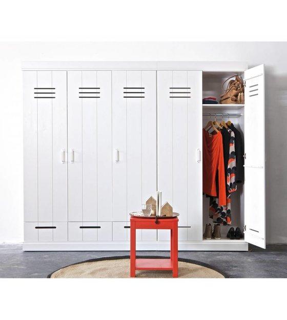 Kleiderschrank kreativ  LEF collections Kleiderschrank 'Connect' mit 2 Türen aus Kiefer ...