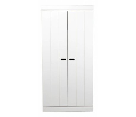 LEF collections 'Connect' due strisce di porta porta pino bianco 195x94x53cm Wardrobe