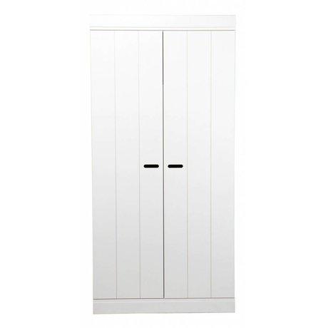 LEF collections Garderobe tilslutnings- to døre strimler dør hvid fyr 195x94x53cm