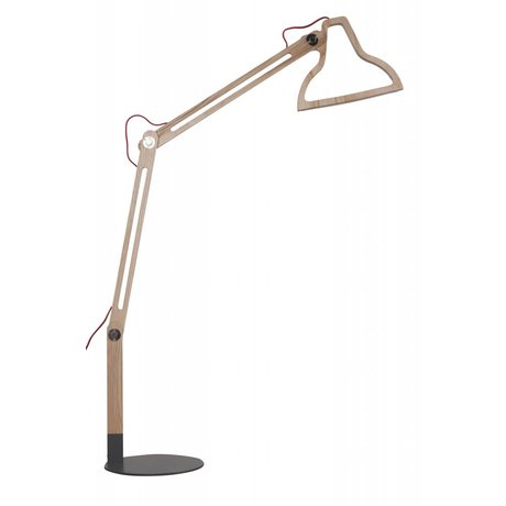 Zuiver Lampada da terra a LED-it-be, marrone naturale, 32x81x165cm
