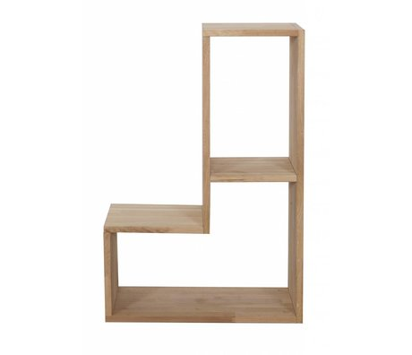 LEF collections Cabinet 'Tetris' quercia, natura, 80x27x54cm