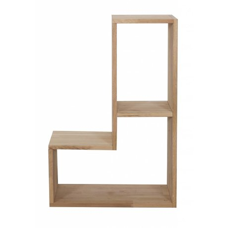 LEF collections Cabinet 'Tetris' oak, nature, 80x27x54cm
