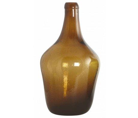 Housedoctor Vidrio soplado botella / florero 'Rec', marrón, Ø23x41cm
