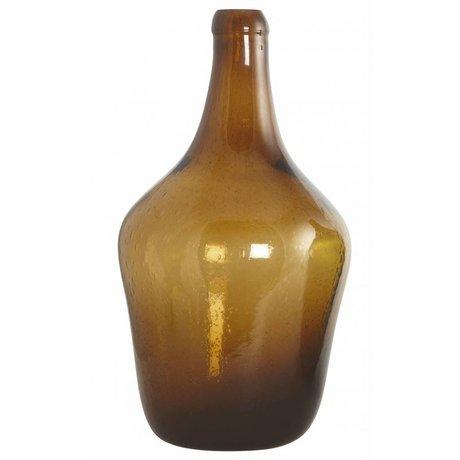 Housedoctor Verre soufflé Bouteille / vase 'Rec', brun, Ø23x41cm