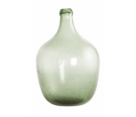 Housedoctor Bottle / vase 'Rec' Blown glass, light green, Ø19.5x28.5cm