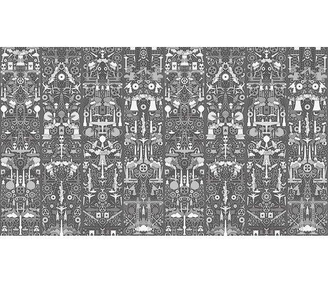 "NLXL-Studio Job Wallpaper ""Sanayi 01"" kağıt, gri / beyaz, 900x48.7cm"