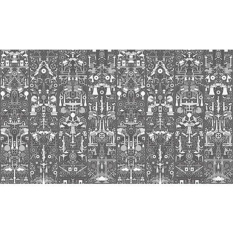 """NLXL-Studio Job La carta da parati """"Industria 01"""", grigio / bianco, 900x48.7cm"""