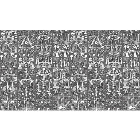 "NLXL-Studio Job Wallpaper ""Industry 01"" paper, gray / white, 900x48.7cm"