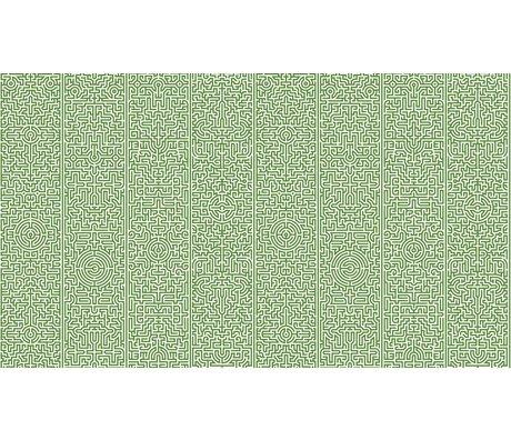 "NLXL-Studio Job La carta da parati ""Labyrinth 02"", verde / bianco, 900x48.7cm"