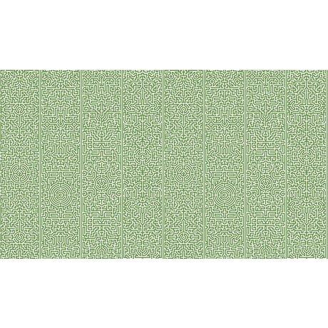 """NLXL-Studio Job Wallpaper """"Labyrinth 02""""-papir, grøn / hvid, 900x48.7cm"""