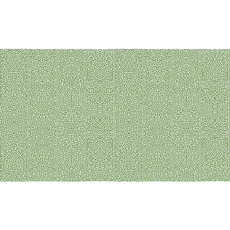 "NLXL-Studio Job Wallpaper papier ""Labyrinthe 02"", vert / blanc, 900x48.7cm"