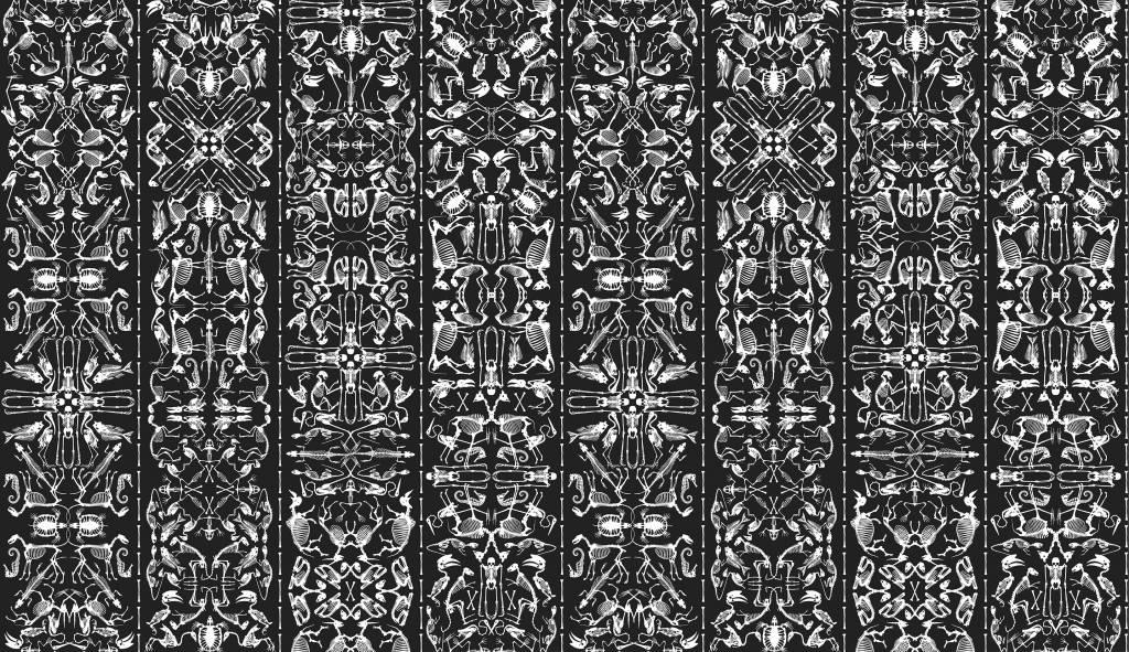 studio job grnder job smeets und nynke tynagel tauchten ins archiv und verwendeten bereits bestehende zeichnungen bilder und formen fr diese neue tapete - Tapete Schwarz Weis Muster