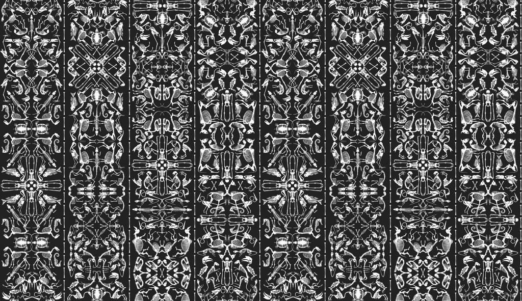 nlxl studio job tapete perished 03 aus papier schwarz wei. Black Bedroom Furniture Sets. Home Design Ideas