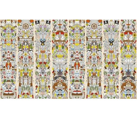 "NLXL-Studio Job Wallpaper ""Eski Alman 04"" kağıt, 900x48.7cm"