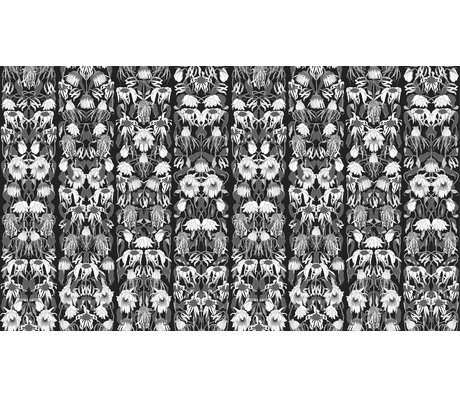 "NLXL-Studio Job Tapete ""Withered flowers black 06"" aus Papier, 900x48.7cm"