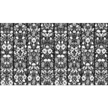 """NLXL-Studio Job """"Solmuş çiçek siyah 06"""" kağıt, 900x48.7cm duvar kağıdı"""