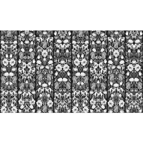 "NLXL-Studio Job Tapete ""Withered flowers black 06"" aus Papier, 900x48.7cm"