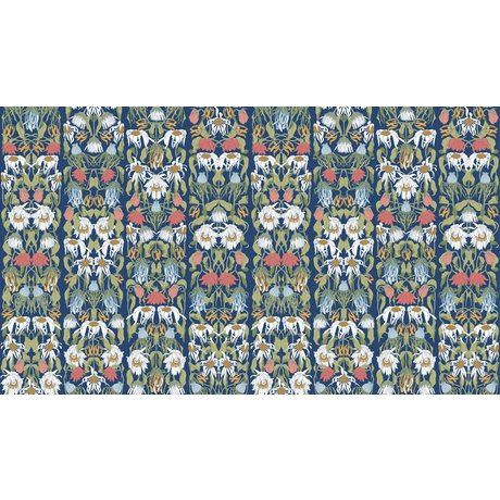 "NLXL-Studio Job Papel ""07 flores marchitas de color"" Wallpaper, 900x48.7cm"