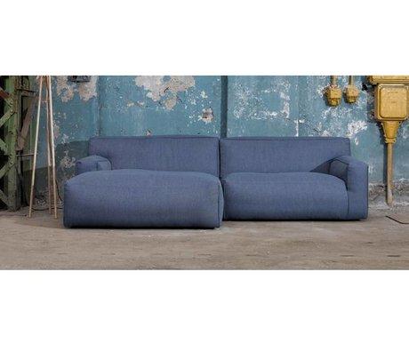 FEST Amsterdam Couch `Clay ', Sydney80 mørkeblå, 1,5-personers / Longchair til venstre eller højre