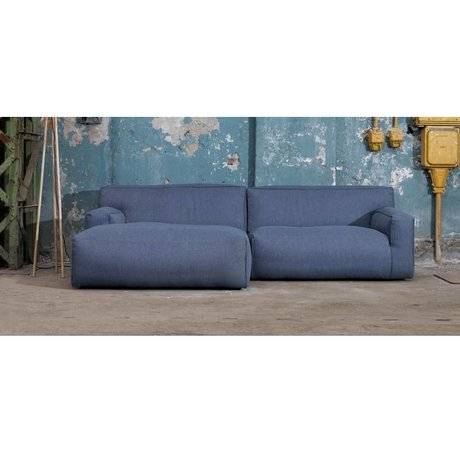 FEST Amsterdam Couch `Clay ', Sydney80 dark blue, 1.5-seater / Longchair left or right