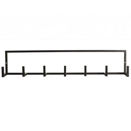 "Housedoctor Garderobe ""Rack"" aus Metall, schwarz, 60x12cm"