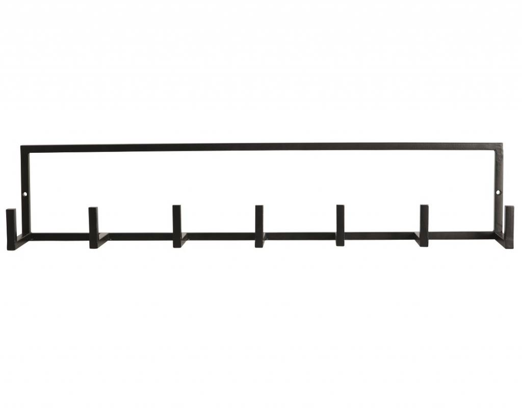 housedoctor garderobe rack aus metall schwarz 60x12cm. Black Bedroom Furniture Sets. Home Design Ideas