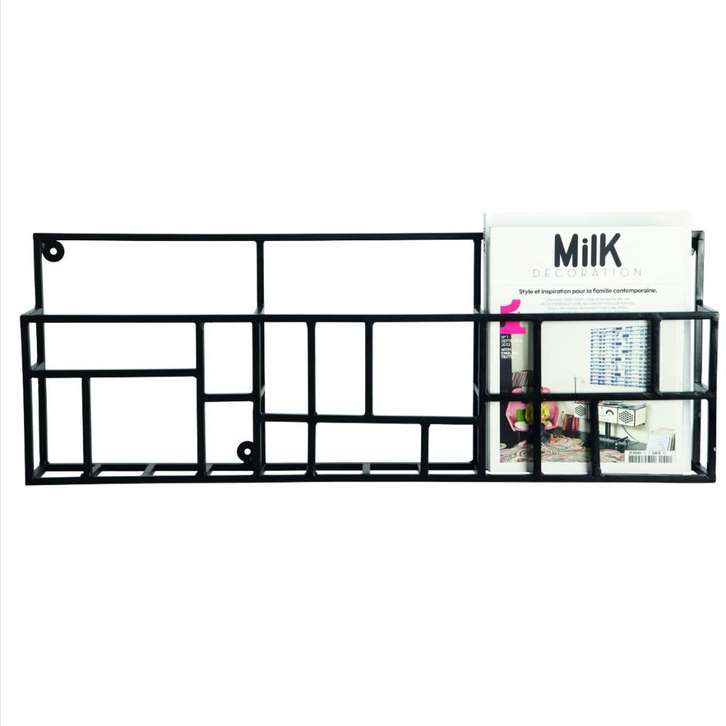 housedoctor zeitschriftenhalter rack aus metall schwarz. Black Bedroom Furniture Sets. Home Design Ideas