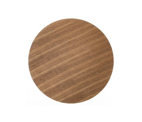 Ferm Living Panel de madera para chapa de roble cesta de metal, de color marrón, 40 cm Ø