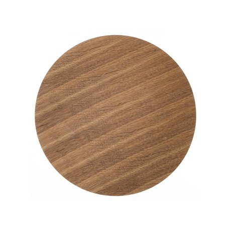 Ferm Living Wood panel for metal basket oak veneer, brown, Ø 40cm