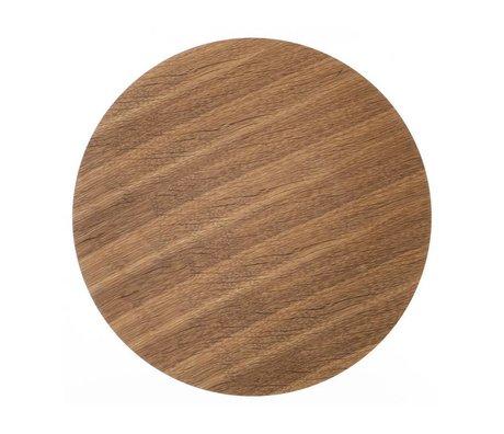 Ferm Living Træplader for metalkurv egefiner, brun, Ø 50cm