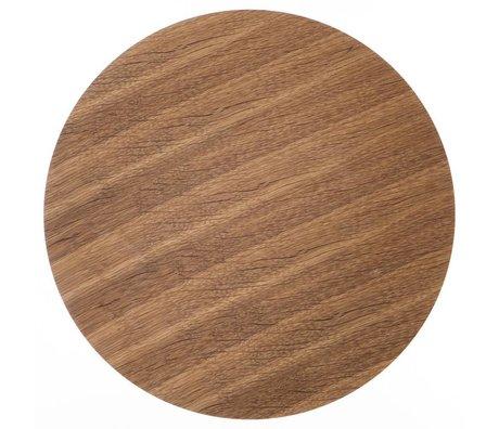 Ferm Living Træplader for metalkurv egefiner, brun, Ø 60cm