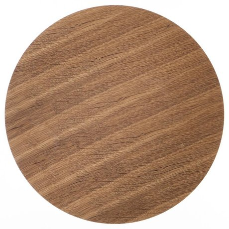 Ferm Living Holzplatte für Metall-Korb aus Eiche furnier, braun, Ø 60cm