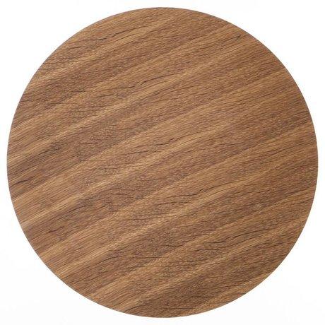 Ferm Living Panneau de bois pour panier métallique placage de chêne, brun, Ø 60 cm