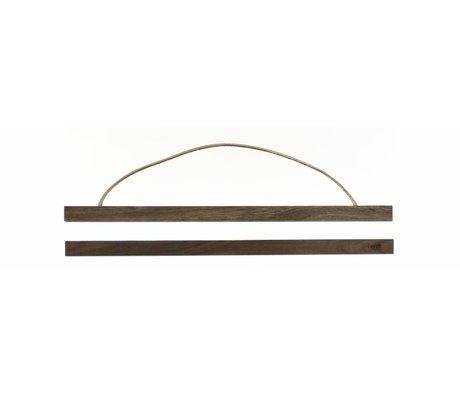 Ferm Living Sistema de suspensión para el aviso fumado roble `madera, 51x2 cm
