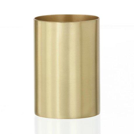 "Ferm Living Coppa del titolare / penna ""CUP BRASS"" brass Ø6x9cm"