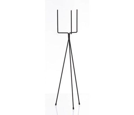 Ferm Living Soporte de la planta estante vegetal `GRANDE 'metal, negro, Ø15x65cm