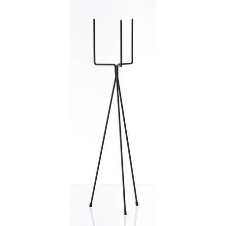Ferm Living Siyah Sebze raf `BİTKİ STANDI BÜYÜK 'metal, Ø15x65cm