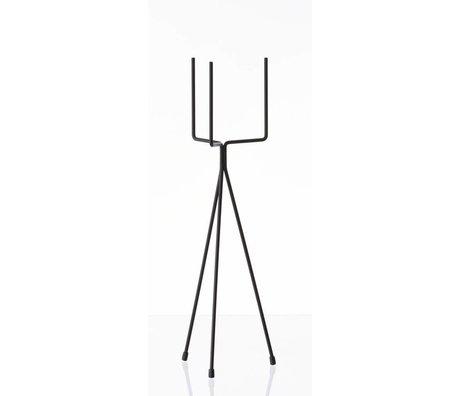 Ferm Living Vegetabilsk rack `plante stå LILLE 'metal, sort, Ø13x50cm