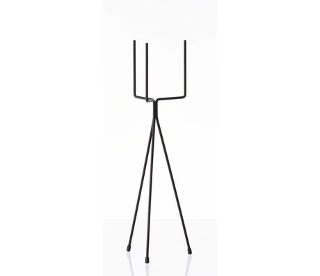 Ferm Living Vegetable rack `PLANT STAND SMALL 'metal, black, Ø13x50cm