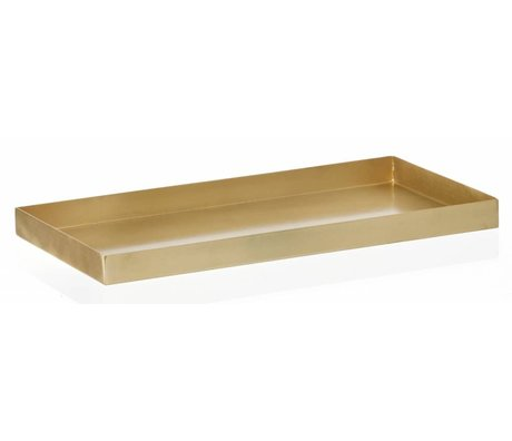 "Ferm Living Tablett ""BRASS TRAY' aus Messing, 15x20cm"