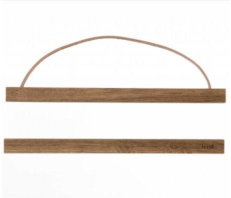Ferm Living Sistema de suspensión para el aviso fumado roble `madera, 31x2 cm