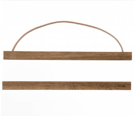 Ferm Living Suspension system for Poster 'smoked oak `wood, 31x2 cm